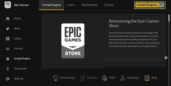 Epic Games Store Launcher : Main Features
